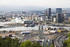 De haven van de binnenstad in Oslo, Noorwegen royalty-vrije stock foto