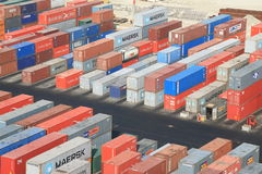 De haven van de container Royalty-vrije Stock Afbeeldingen