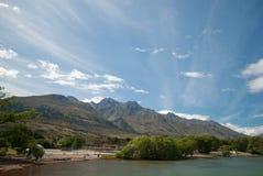 De Haven van de Glenorchybaai, Queenstown, Zuideneiland, Nieuw Zeeland Royalty-vrije Stock Foto