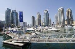 De haven van de jachthaven van Doubai Stock Foto