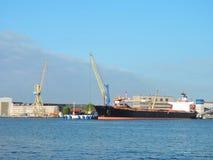 De haven van de Klaipedastad, Litouwen Stock Afbeelding