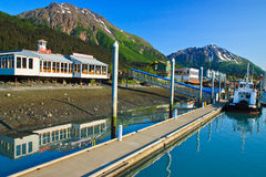 De Haven van de kleine boot, Seward Alaska Stock Foto