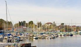 De haven van de zeilboot Stock Afbeeldingen