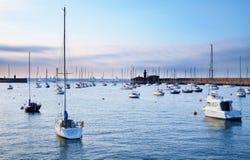 De haven van de zonsondergang royalty-vrije stock foto