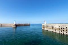 De Haven van Dielette, Normandië, Frankrijk Stock Afbeelding