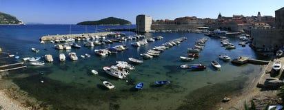 De haven van Dubrovnik van het panorama Royalty-vrije Stock Foto
