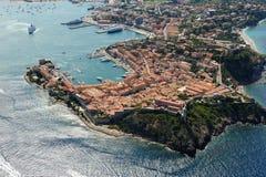 De haven van Elba eiland-Portoferraio Stock Afbeelding
