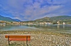 De haven van Epidaurus Stock Foto's
