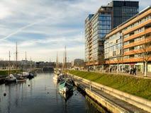 De haven van Ernst Busch platz Kiel, Duitsland royalty-vrije stock fotografie