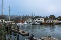 De haven van fortbragg, Californië Stock Afbeelding