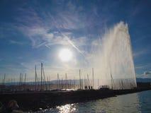 De haven van Genève Royalty-vrije Stock Afbeeldingen