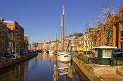 De haven van Groningen Royalty-vrije Stock Afbeelding