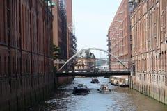 De haven van Hamburg Royalty-vrije Stock Foto's