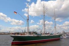 De Haven van Hamburg Stock Afbeelding