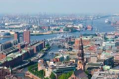 De haven van Hamburg Royalty-vrije Stock Afbeeldingen