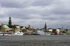 De haven van Hamburg Stock Foto