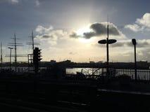 De haven van Hamburg Royalty-vrije Stock Foto