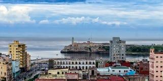 De haven van Havana, Cuba Panorama Stock Afbeelding