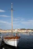 De haven van heilige Tropez. royalty-vrije stock afbeelding