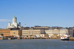 De haven van Helsinki Stock Afbeeldingen