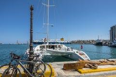 De haven van Heraklion stock afbeeldingen