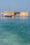 De haven van Heraklion. Kreta, Griekenland Stock Afbeelding