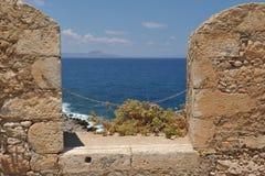 De haven van Heraklion, Kreta Griekenland Stock Foto