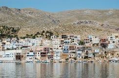 De haven van het Griekse Eiland Kalymnos, s Stock Afbeelding