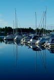 De haven van het jacht in de ochtend royalty-vrije stock foto