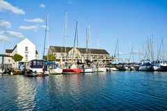 De haven van het Marselisborgjacht (II) - Aarhus Denemarken Stock Afbeelding