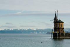 De haven van het Meer van Konstanz toneel Stock Afbeeldingen