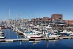 De haven van het de sportenschip van Den Haag Nederland stock foto