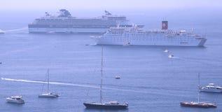 De haven van het Villefranche-sur-Mer, Kooi D'Azur, Zuiden o Royalty-vrije Stock Afbeelding