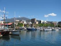 De Haven van Hobart Stock Foto