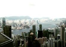 De haven van Hong Kong en van Victoria Stock Afbeeldingen