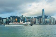 De haven van Hongkong Stock Afbeelding