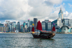 De haven van Hongkong Royalty-vrije Stock Fotografie