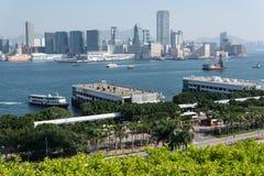 De haven van Hongkong Stock Afbeeldingen