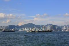 De haven van Hongkong Royalty-vrije Stock Foto's