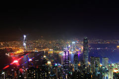 De haven van Hongkong Victoria Stock Afbeeldingen