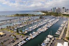 De Haven van Honolulu royalty-vrije stock foto's