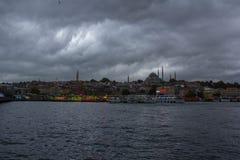 De haven van Istanboel Fatih Stock Afbeeldingen