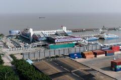 De haven van Jiuzhou royalty-vrije stock fotografie