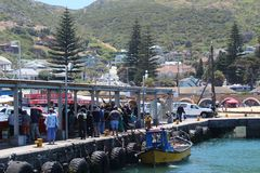 De Haven van de Kalkbaai in Cape Town stock foto