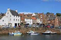 De Haven van kleine botencrail, Crail, Fife, Schotland Stock Afbeelding