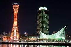 De haven van Kobe in Japan Stock Foto's