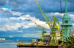 De Haven van Kobe - Japan stock foto