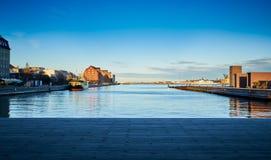 De Haven van Kopenhagen, Denemarken stock afbeeldingen
