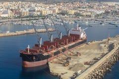 De Haven van La Garrucha, Murcia Spaanse kust stock afbeeldingen