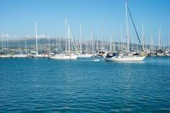 De haven van Lefkada Stock Afbeeldingen